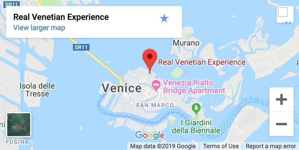 Real Venetian Kayak Location
